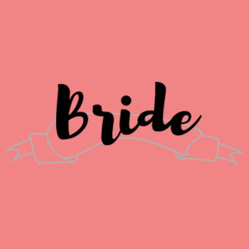 Customisable Bride / Bridesmaid / Maid of Honor Banner Tee's Design
