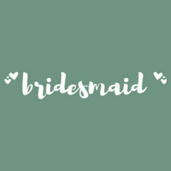 Customisable Bridesmaid with Hearts Design